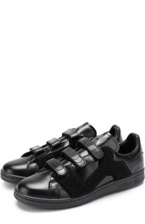 Кожаные кеды Stan Smith с застежками велькро Adidas by Raf Simons