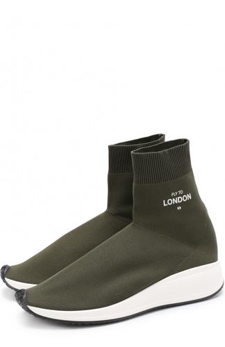 Текстильные кроссовки Fly to London Joshua Sanders