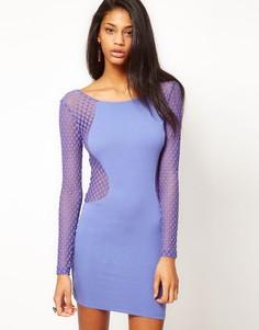 Платье с сетчатыми вставками Motel - Фиолетовый