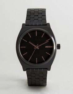 Черные часы Nixon Time Teller - Черный