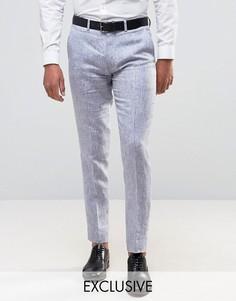 Льняные суперузкие брюки Only & Sons - Темно-синий