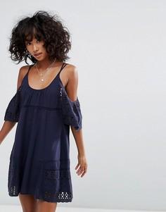 Платье с открытыми плечами d.RA Nancy - Темно-синий