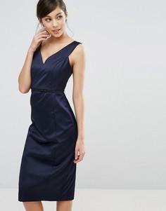 Платье с вырезом Coast Leticia - Темно-синий