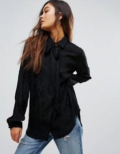 Рубашка с бантом-завязкой Gestuz Jade - Черный