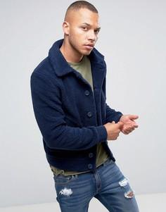 Куртка из искусственной цигейки Another Influence - Темно-синий