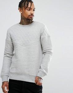 Стеганый свитшот с круглым вырезом Another Influence - Серый