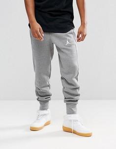 Серые джоггеры из флиса Nike Jordan Flight 823071-091 - Серый