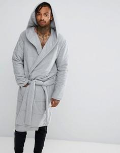 Серый стеганый халат ASOS - Серый