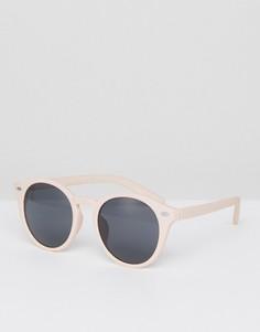 Круглые очки в розовой оправе ASOS - Розовый