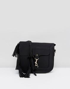 Сумка с пряжкой Yoki Fashion - Черный