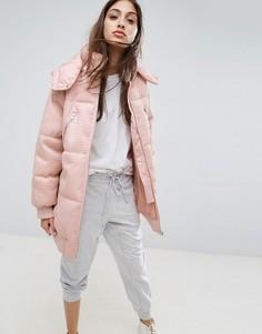 Дутая куртка ASOS Premium - Розовый
