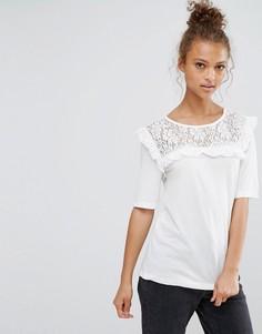 Блузка с оборкой B.Young - Белый