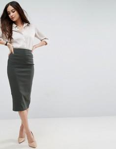 Длинная юбка-карандаш ASOS - Зеленый