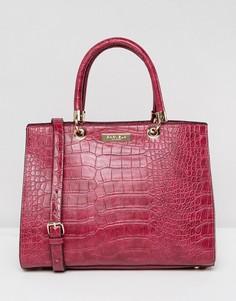 Структурированная сумка-тоут с рисунком крокодиловой кожи Carvela Darla - Розовый