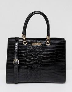Структурированная сумка-тоут с рисунком крокодиловой кожи Carvela Darla - Черный