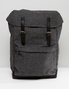 Серый твидовый рюкзак ASOS - Серый