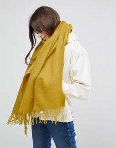 Длинный мягкий шарф с кисточками ASOS - Желтый