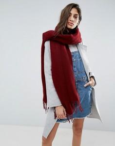 Длинный мягкий шарф с кисточками ASOS - Красный