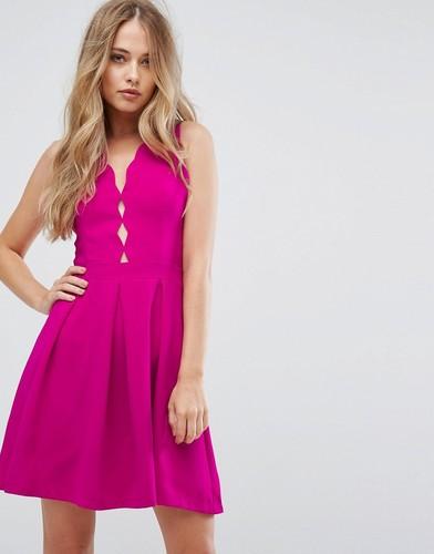 Приталенное платье со свободной юбкой Adelyn Rae Serena - Розовый