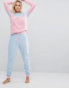 Пижамный комплект Chelsea Peers Fuzzy Do Nothing Club - Мульти