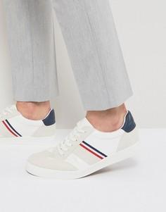 Кроссовки в стиле ретро с махровой подкладкой ASOS - Белый
