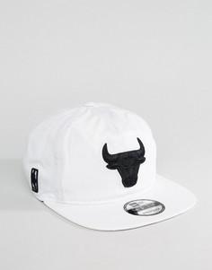 Бейсболка New Era 9Fifty Chicago Bulls Premium Sport - Белый