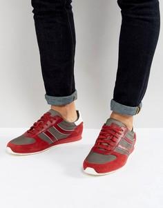 Красные кроссовки из нейлона и замши BOSS Orange by Hugo Boss - Красный