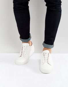 Белые кожаные кроссовки HUGO by Hugo Boss - Белый