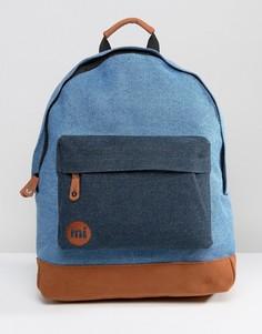 Джинсовый классический рюкзак со светло-коричневой отделкой Mi-Pac - Синий
