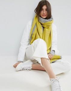 Длинный тканый шарф в стиле колор блок ASOS - Серый