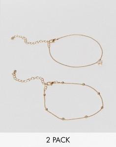 Набор из 2 браслетов на щиколотку ALDO - Золотой