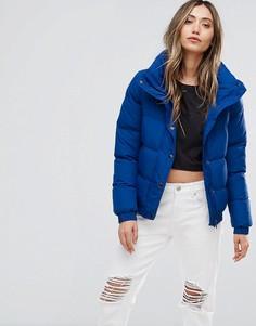Короткое дутое пальто Brave Soul - Синий