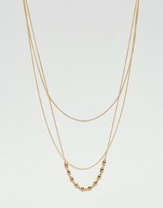 Позолоченное многорядное ожерелье Gorjana - Золотой