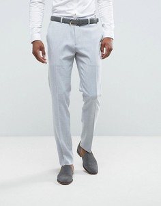 Серые облегающие брюки ASOS Wedding - Серый