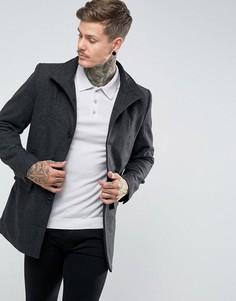 Куртка милитари из ткани с добавлением шерсти Bellfield - Серый