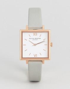 Серые часы с большим квадратным циферблатом Olivia Burton - Серый