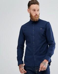 Синяя приталенная рубашка Farah Steen - Синий