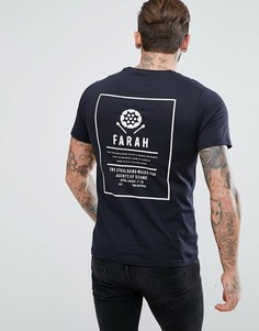 Черная узкая футболка с принтом Farah Steffen - Черный