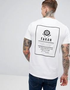 Белая узкая футболка с принтом Farah Steffen - Белый