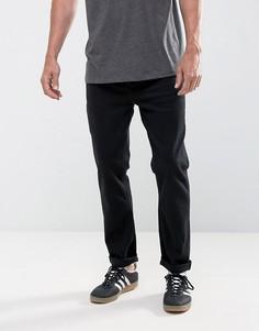 Черные суженные книзу джинсы из денима плотностью 12,5 унции ASOS - Черный