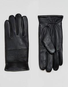 Черные кожаные перчатки ASOS - Черный