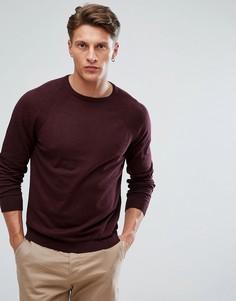 Бордовый джемпер с круглым вырезом Burton Menswear - Красный