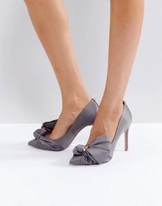Серые атласные туфли-лодочки Ted Baker Dorabow - Серый