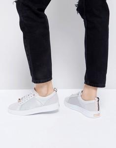 Светло-серые кожаные кроссовки Ted Baker Kulei - Серый