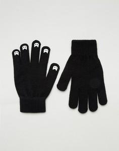 Перчатки со светящимися в темноте когтями ASOS - Черный