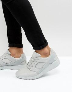 Серые фактурные кроссовки из искусственной замши с резиновыми вставками ASOS - Серый