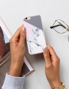 Чехол для iPhone 6 с мраморным принтом Signature - Белый
