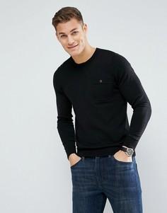 Трикотажный джемпер с длинными рукавами и карманом Ben Sherman - Черный
