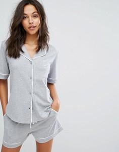 Пижамный комплект с топом с короткими рукавами DKNY - Серый