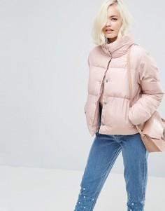 Дутая куртка Lost Ink - Розовый